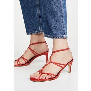 TIBI Gavin sandals in tomato red